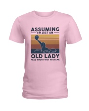 Water Polo Assuming Lady Ladies T-Shirt front