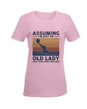 Water Polo Assuming Lady Ladies T-Shirt women-premium-crewneck-shirt-front