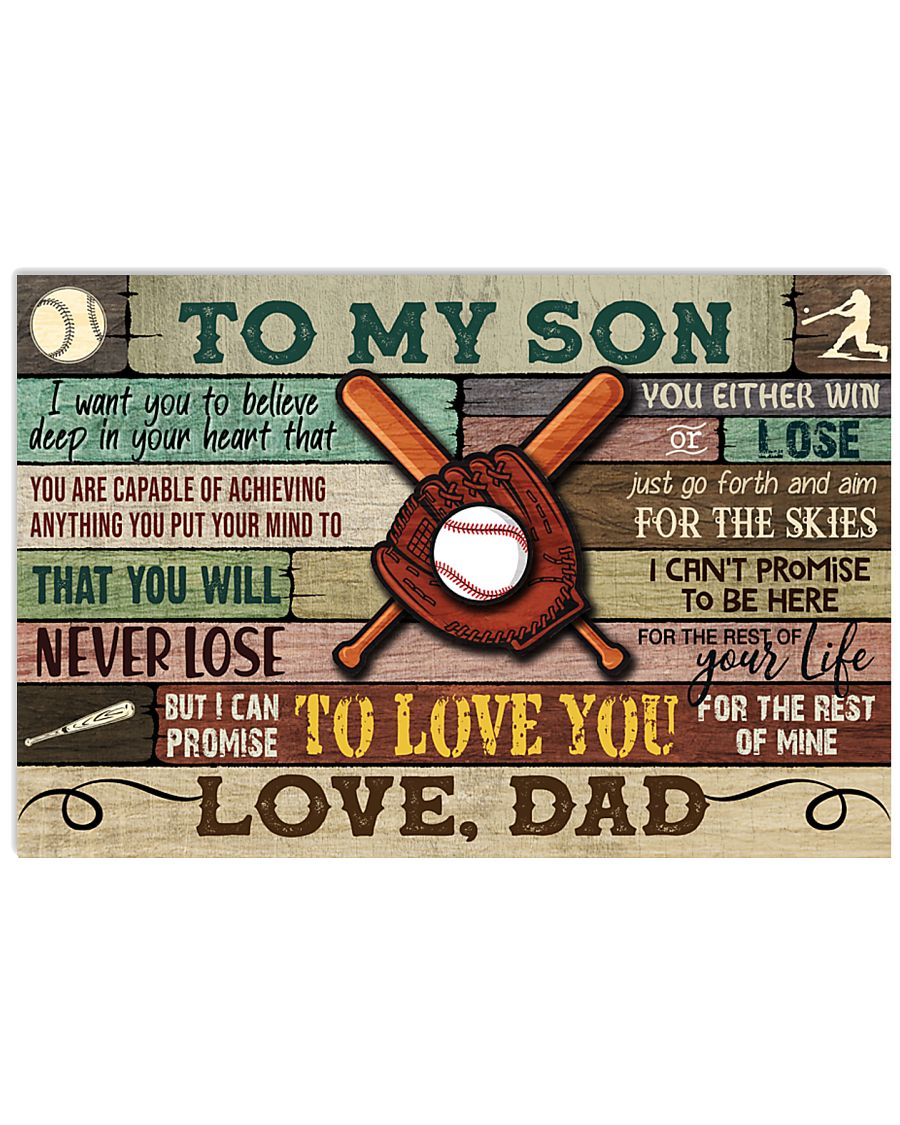 Baseball To My Son Dad 17x11 Poster