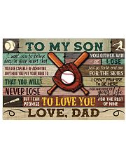 Baseball To My Son Dad 17x11 Poster front