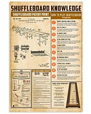 Shuffleboard knowledge 11x17 Poster front