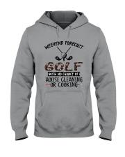 Golf Weekend Forecast Hooded Sweatshirt thumbnail