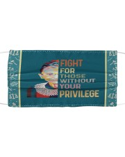 RBG fight privilege sticker Cloth face mask thumbnail