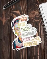 RBG fight privilege sticker Sticker - 6 pack (Vertical) aos-sticker-6-pack-vertical-lifestyle-front-05