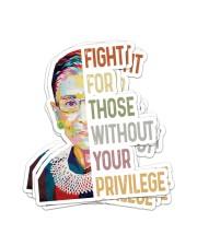 RBG fight privilege sticker Sticker - 6 pack (Vertical) front