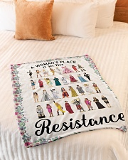 """Woman's place 5 blanket Small Fleece Blanket - 30"""" x 40"""" aos-coral-fleece-blanket-30x40-lifestyle-front-01"""