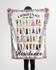 """Woman's place 5 blanket Small Fleece Blanket - 30"""" x 40"""" aos-coral-fleece-blanket-30x40-lifestyle-front-14"""