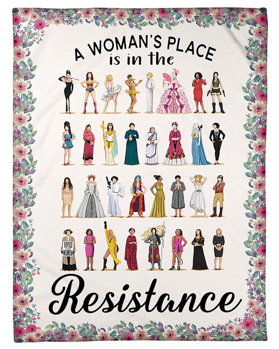 "Woman's place 5 blanket Small Fleece Blanket - 30"" x 40"""