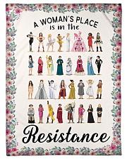 "Woman's place 5 blanket Small Fleece Blanket - 30"" x 40"" front"