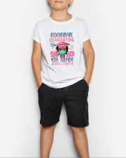 Black Girl 4th grade Goodbye quarantine Youth T-Shirt lifestyle-youth-tshirt-front-1