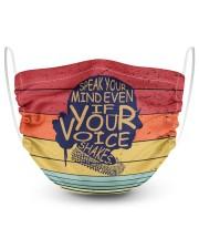 RBG vintage color apron 2 Layer Face Mask - Single thumbnail