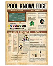 Pool knowledge 11x17 Poster front