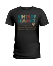 Vintage feminist Ladies T-Shirt thumbnail