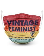 Vintage feminist 2 Layer Face Mask - Single front