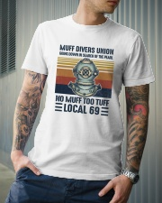 Muff divers union Classic T-Shirt lifestyle-mens-crewneck-front-6