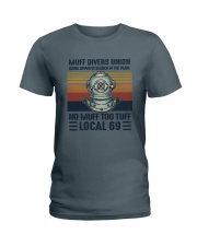 Muff divers union Ladies T-Shirt thumbnail