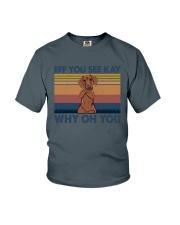 Dachshund Eff You See Kay Youth T-Shirt thumbnail
