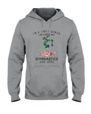 Gymnastics Simple Woman Hooded Sweatshirt thumbnail
