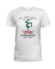 Gymnastics Simple Woman Ladies T-Shirt front