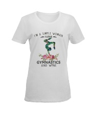 Gymnastics Simple Woman Ladies T-Shirt women-premium-crewneck-shirt-front
