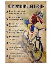 Mountain Biking life lessons 11x17 Poster front