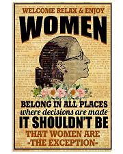 RBG women belong poster 11x17 Poster front