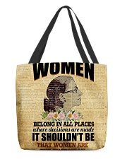 RBG women belong poster All-over Tote thumbnail