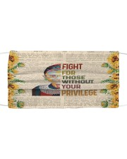 RBG privilege sunflower Cloth face mask front