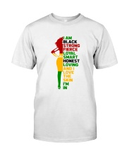 I Am Black Strong Classic T-Shirt front