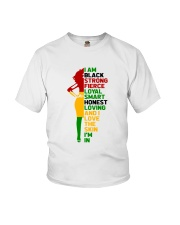 I Am Black Strong Youth T-Shirt thumbnail