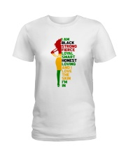 I Am Black Strong Ladies T-Shirt thumbnail