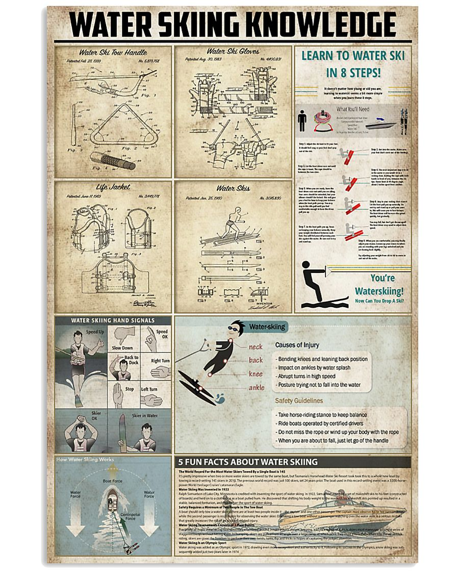 Water Skiing Knowledge 11x17 Poster