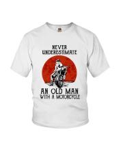 Old Man Motorcycle Youth T-Shirt thumbnail