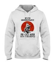 Old Man Motorcycle Hooded Sweatshirt thumbnail