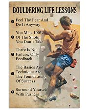 Bouldering life lessons 11x17 Poster front