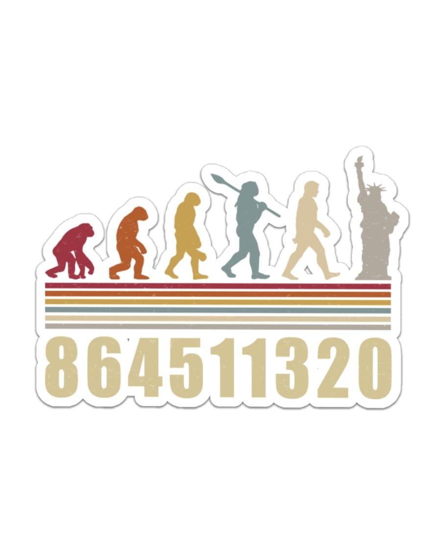 864511320 evolution Sticker - Single (Horizontal)