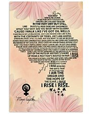 Maya Angelou you may write flower 11x17 Poster thumbnail