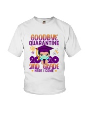 White Boy 2nd grade Goodbye quarantine Youth T-Shirt front
