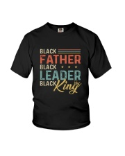 Black Father Black Leader Black King Youth T-Shirt thumbnail