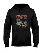 Black Father Black Leader Black King Hooded Sweatshirt thumbnail