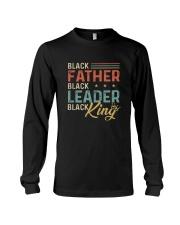 Black Father Black Leader Black King Long Sleeve Tee thumbnail