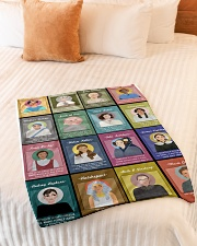 "RBG mighty blanket Small Fleece Blanket - 30"" x 40"" aos-coral-fleece-blanket-30x40-lifestyle-front-01"