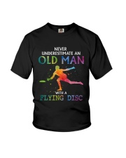 Disc golf Never old man Youth T-Shirt thumbnail