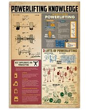 Powerlifting knowledge 11x17 Poster front