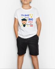 7th grade Virtual grad Youth T-Shirt lifestyle-youth-tshirt-front-1