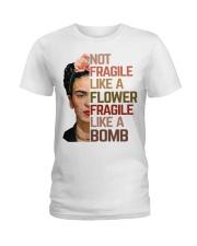 Frida Kahlo fragile sunflower Ladies T-Shirt thumbnail