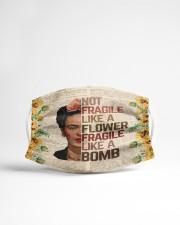 Frida Kahlo fragile sunflower Cloth face mask aos-face-mask-lifestyle-22