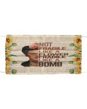 Frida Kahlo fragile sunflower Cloth face mask front