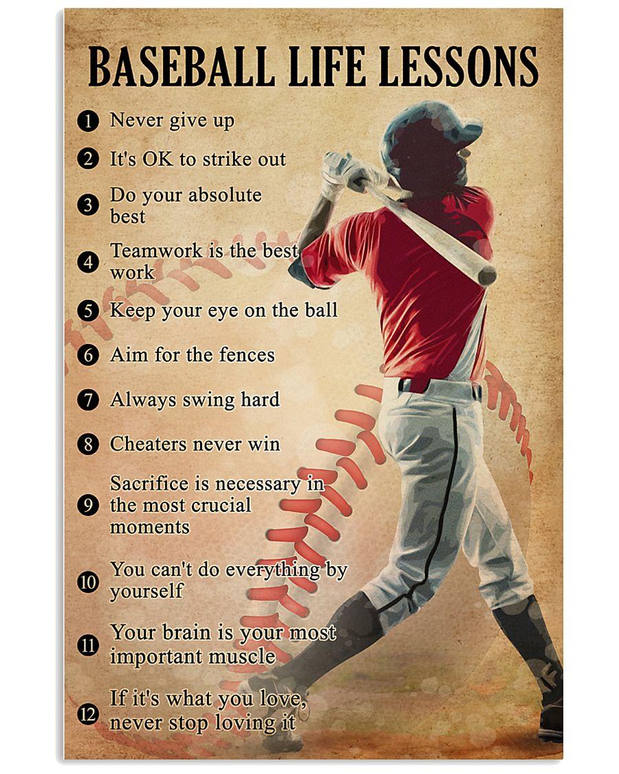 Baseball life lessons 11x17 Poster