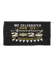 1st Celebrated anniversary Cloth face mask thumbnail